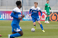 Joe Tomlinson of Eastleigh during the Vanarama National League match between Eastleigh and Woking at Silverlake Stadium, Eastleigh, United Kingdom on 10 April 2021.