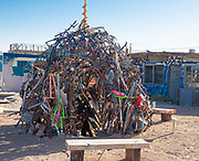Pile of Junk Art Exhibit in Bombay Beach