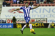 Wigan Defender Craig Morgan during the Sky Bet League 1 match between Wigan Athletic and Gillingham at the DW Stadium, Wigan, England on 7 January 2016. Photo by Pete Burns.