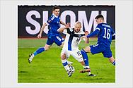 Teemu Pukki. Finland - Bosnia and Herzegovina. World Cup qualification. Helsinki, March 24, 2021.