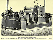 Edison's Electric Dynamo machine From the Book Les merveilles de la science, ou Description populaire des inventions modernes [The Wonders of Science, or Popular Description of Modern Inventions] by Figuier, Louis, 1819-1894 Published in Paris 1867