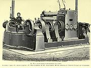 Edison's Electric Dynamo machine From the Book Les merveilles de la science, ou Description populaire des inventions modernes [The Wonders of Science, or Popular Description of Modern Inventions] by Figuier, Louis, 1819-1894 Published in Paris 1867