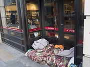 Homeless in the city, London, 10 March 2020