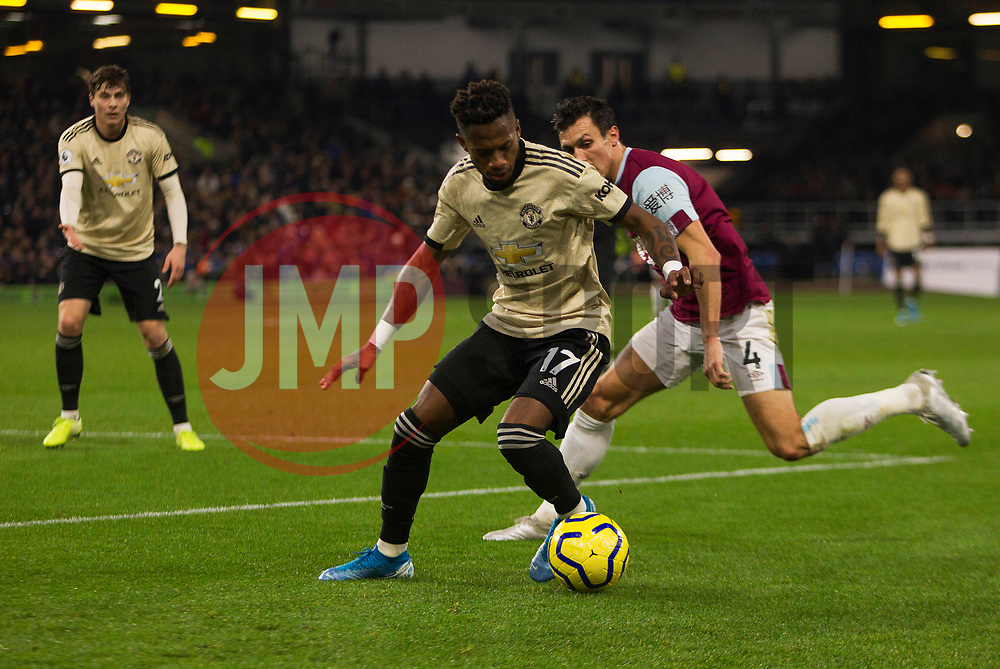 Fred of Manchester United (L) and Jack Cork of Burnley in action - Mandatory by-line: Jack Phillips/JMP - 28/12/2019 - FOOTBALL - Turf Moor - Burnley, England - Burnley v Manchester United - English Premier League