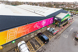 Homebase Orpington has a new graphic wrap around its outlet as the DIY and gardening retailer aims to attract new customers following the group's takeover by Hilco Capital. Orpington, December 18 2018.