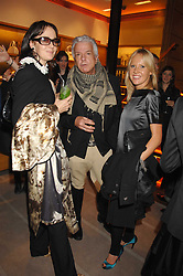Left to right, LUCY BIRLEY, NICKY HASLAM and ALICE BAMFORD at a reception to launch the 2007 Louis Vuitton Christmas windows in collaboration with Central Saint Martins College of Art & Design held at 17-18 New Bond Street, London W1 on 7th November 2007.<br />