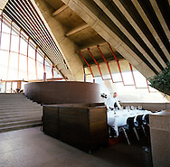 The interior of Guillaume at Bennelong, located in the southern most shell of the Sydney Opera House..