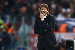 October 31, 2017 - Rome, Italy - Antonio Conte manager of Chelsea after the goal of 3-0  during the UEFA Champions League football match AS Roma vs Chelsea on October 31, 2017 at the Olympic Stadium in Rome. (Credit Image: © Matteo Ciambelli/NurPhoto via ZUMA Press)