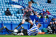 Leeds United midfielder Jordan Stevens (7)  during the U23 Professional Development League match between U23 Sheffield Wednesday and U23 Leeds United at Hillsborough, Sheffield, England on 3 February 2020.