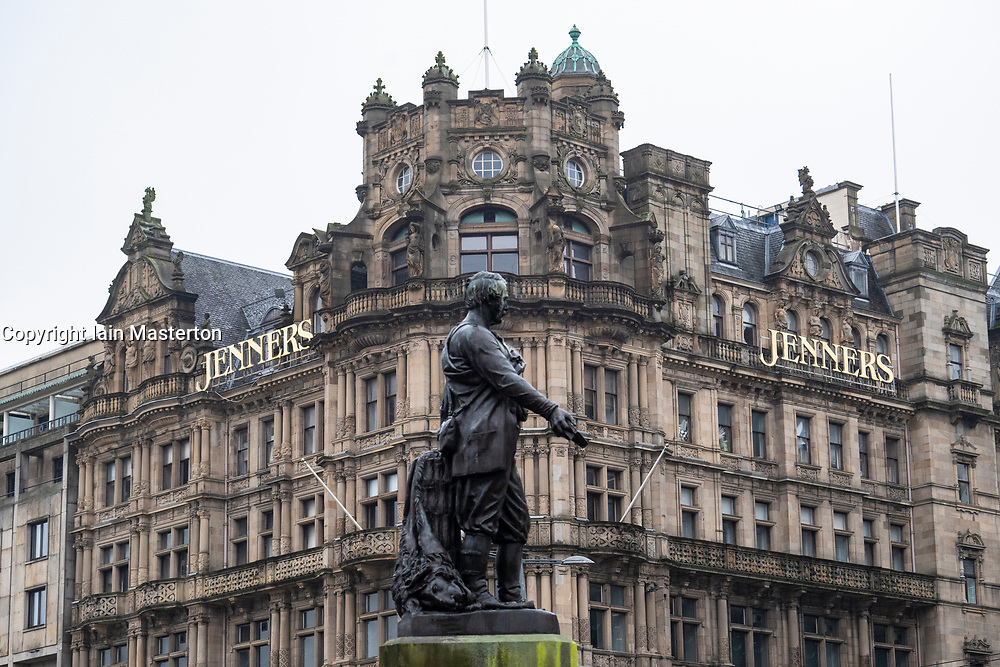 Exterior view of Jenners department store on Princes Street in Edinburgh. Store is to close on 23 May 2021.