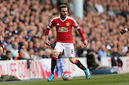 Juan Mata of Manchester United in action. Barclays Premier league match, Tottenham Hotspur v Manchester Utd at White Hart Lane in London on Sunday 10th April 2016.<br /> pic by John Patrick Fletcher, Andrew Orchard sports photography.