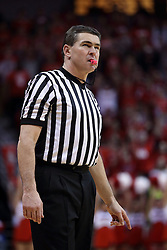 20 January 2017:  NCAA basketball referee Paul Janssen during an NCAA Missouri Valley Conference mens basketball game Where the Purple Aces of Evansville lost to the Illinois State Redbirds 75-73 in Redbird Arena, Normal IL