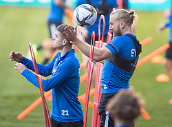 CARDIFF, WALES - Tuesday, September 7, 2021: Estonia's Henri Anier during a training session at the Cardiff City Stadium ahead of the FIFA World Cup Qatar 2022 Qualifying Group E match between Wales and Estonia. (Pic by David Rawcliffe/Propaganda)