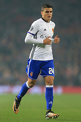 12th September 2017 - UEFA Champions League - Group A - Manchester United v FC Basel - Mohamed Elyounoussi of Basel - Photo: Simon Stacpoole / Offside.