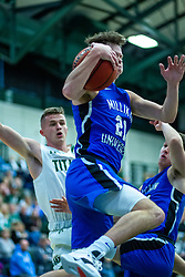 BLOOMINGTON, IL - January 04:  Zach Fisher during a college basketball game between the IWU Titans  and the Millikin Big Blue on January 04 2020 at Shirk Center in Bloomington, IL. (Photo by Alan Look)