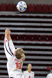 19 August 2017:  Machayla Leonard during a college women's volleyball match Scrimmage of the Illinois State Redbirds at Redbird Arena in Normal IL (Photo by Alan Look)