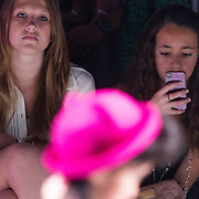 NLD/Amsterdam/20130713 - AFW 2013 Zomer, modeshow Supertrash Girls, Diana Janssen en vriendin Nora frontrow