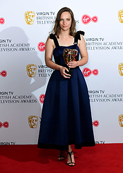 Molly Windsor with the Leading Actress award in the press room at the Virgin TV British Academy Television Awards 2018 held at the Royal Festival Hall, Southbank Centre, London.