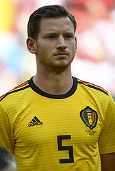 June 23, 2018 - Moscow, Russia - Jan Vertonghen of Belgium during the 2018 FIFA World Cup Group G match between Belgium and Tunisia at Spartak Stadium in Moscow, Russia on June 23, 2018  (Credit Image: © Andrew Surma/NurPhoto via ZUMA Press)