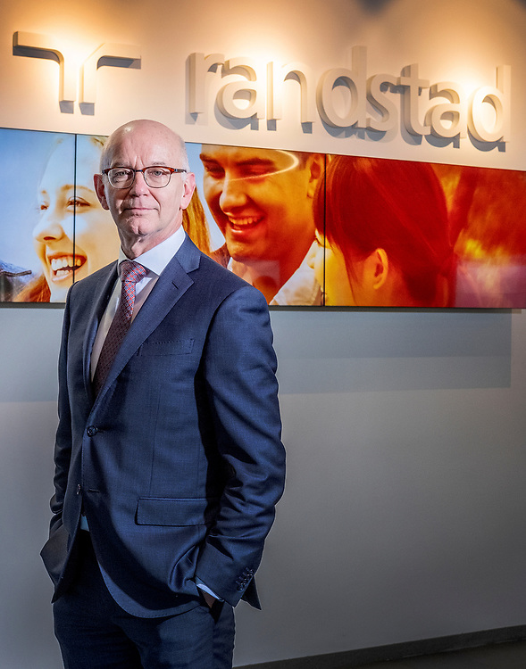 Netherlands. Amsterdam, 15-02-2019. Photo: Patrick Post. Portrait of Jacques van den Broek, is the CEO of Randstad Holding. Randstad, is a Dutch multinational human resource consulting firm.