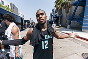 THOUSAND OAKS, CA Sunday, August 12, 2018 - Nike Basketball Academy. De'Vion Harmon 2019 #12 of John H. Guyer HS poses for the camera after the game. <br /> NOTE TO USER: Mandatory Copyright Notice: Photo by Jon Lopez / Nike