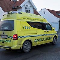 Ambulansebil i Kristiansand.