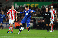James McCarthy of Everton in action.   Barclays Premier League match, Stoke city v Everton at the Britannia Stadium in Stoke on Trent , Staffs on Wed 4th March 2015.<br /> pic by Andrew Orchard, Andrew Orchard sports photography.