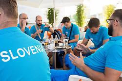 Slovenian deaf team before departure to 23rd Summer Deaflympics in Samsun, Turkey, on July 14, 2017 at Airport Joze Pucnik, Brnik, Slovenia. Photo by Vid Ponikvar / Sportida