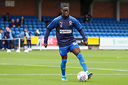AFC Wimbledon defender Paul Osew (37) warming up during the EFL Sky Bet League 1 match between AFC Wimbledon and Rochdale at the Cherry Red Records Stadium, Kingston, England on 5 October 2019.
