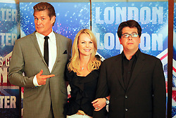 © under license to London News Pictures. 13/04/11 Britain's Got Talent series launch with judging panel David Hasselhoff, Amanda Holden and Michael MacIntyre at the Mayfair Hotel, London. Photo credit should read: Olivia Harris/ London News Pictures