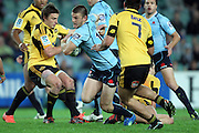 Rob Horne. Waratahs v Hurricanes. 2012 Super Rugby round 15 match. Allianz Stadium, Sydney Australia on Saturday 2 June 2012. Photo: Clay Cross / photosport.co.nz