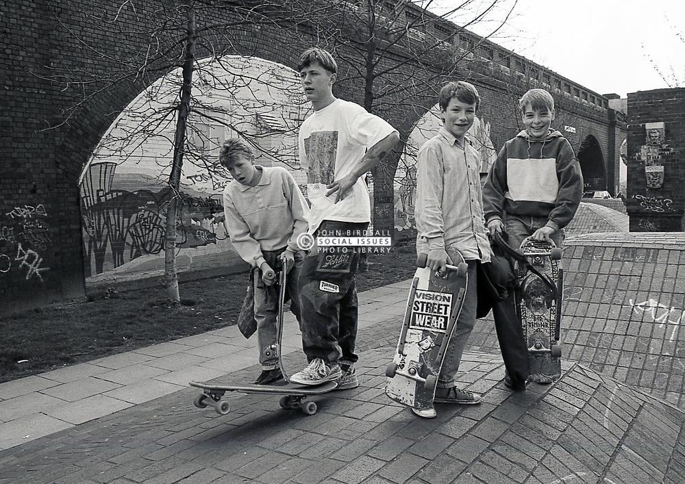 Skateboarders, Nottingham, UK 1989