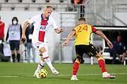 Mitchel Bakker of PSG during the French championship Ligue 1 football match between RC Lens (Racing Club de Lens) and Paris Saint-Germain (PSG) on September 10, 2020 at Stade Felix Bollaert in Lens, France - Photo Juan Soliz / ProSportsImages / DPPI