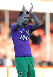 Bristol City's Marlon Pack applauds the fans - Photo mandatory by-line: Dougie Allward/JMP - Mobile: 07966 386802 - 07/03/2015 - SPORT - Football - Crawley - Broadfield Stadium - Crawley Town v Bristol City - Sky Bet League One