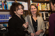 HELENA BONHAM-CARTER; VIRGINIA BONHAM-CARTER,  Allie Esiri's The Love Book launch party , Daunt Books <br /> 83 Marylebone High Street, London. 5 February 2014