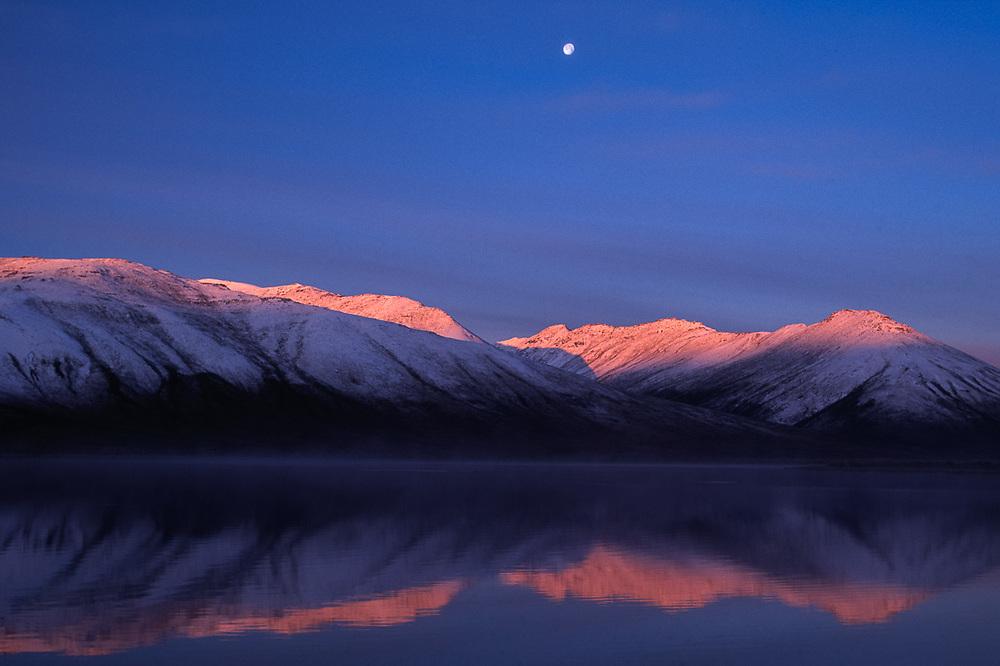 Pingo Lake, morning light, Noatak River area, Gates of the Arctic National Park, AK, USA