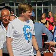 NLD/Amsterdam/20100418 - Run For Water: Live Earth 2010, Pauline de Wilde, prins Willem - Alexander en Anthonie Kamerling