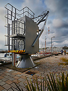Crane at the Royal William Yard<br /> Plymouth, Devon, UK