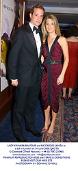 LADY KINVARA BALFOUR and RICCARDO LANZA at a ball in London on 3rd June 2006.QPD 93<br /> <br /> NON EXCLUSIVE - WORLD RIGHTS