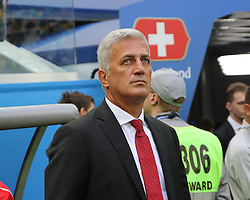 July 3, 2018 - Russia - July 03, 2018, St. Petersburg, FIFA World Cup 2018 Football, the playoff round. Football match of Sweden - Switzerland at the stadium of St. Petersburg. Vladimir Petkovych; Main coach; trainer; judge; referee. (Credit Image: © Russian Look via ZUMA Wire)
