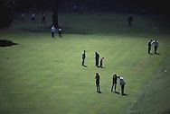 Lawn golf in Edinburgh, Scotland, 1996