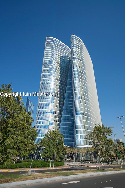 Abu Dhabi Investment Authority (ADIA) headquarters building in Abu Dhabi United Arab Emirates