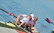 Belgrade, SERBIA. 2012   FISA World Cup I.  USA1 W2X.  bow. Erin Cafaro and Elle Logan.   Sunday  06/05/2012 [Mandatory Credit. Peter Spurrier/Intersport Images]