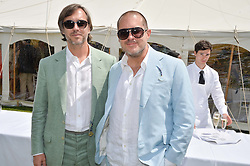 Left to right, MARC NEWSON and SIR JONATHAN IVE at the Cartier hosted Style et Lux at The Goodwood Festival of Speed at Goodwood House, West Sussex on 29th June 2014.