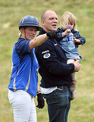 File photo dated 19/06/16 of Zara and Mike Tindall with their daughter Mia Grace, as the couple are expecting their second child, a spokeswoman for the pair has said.