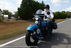 John Bartman riding his 1940 Harley-Davidson ULH Flathead in the Cross Country Chase motorcycle endurance run from Sault Sainte Marie, MI to Key West, FL. (for vintage bikes from 1930-1948). Stage-6 from Chattanooga, TN to Macon, GA USA covered 258 miles. Wednesday, September 11, 2019. Photography ©2019 Michael Lichter.