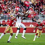 Dec 15 2019  Santa Clara, CA  U.S.A   Atlanta Falcons wide receiver Julio Jones (11) makes a great catch during the NFL Football game between the Atlanta Falcons and the San Francisco 49ers 29-22 win at Levi Stadium San Francisco Calif. Thurman James / CSM