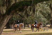 Riders in the fox hunt at Middleton Place Plantation in Charleston, SC.