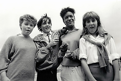 Secondary schoolchildren, Nottingham UK 1987