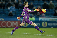 Alex Smithies (QPR) clears the ball during the Sky Bet Championship match between Sheffield Wednesday and Queens Park Rangers at Hillsborough, Sheffield, England on 23 February 2016. Photo by Mark P Doherty.